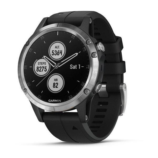 Garmin fenix 5 PLUS Silver Multispor Akıllı Saat Siyah