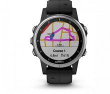 Garmin fenix 5S PLUS Silver Multispor Akıllı Saat Siyah