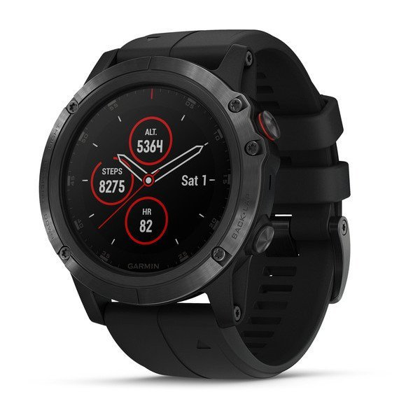 Garmin fenix 5X PLUS Sapphire Multispor Akıllı Saat Siyah