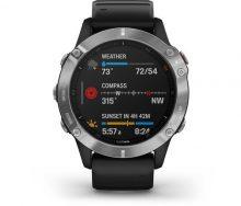 Garmin Fenix 6 Multispor GPS Akıllı Saat - Gümüş Siyah