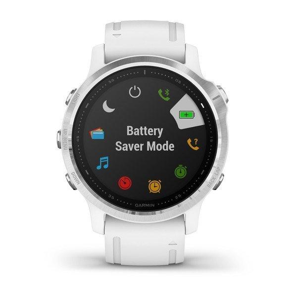 Garmin Fenix 6S Gümüş Beyaz Multispor GPS Akıllı Saat