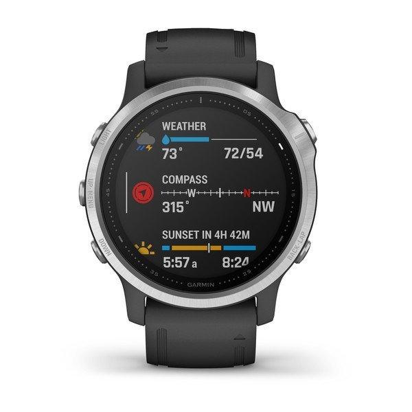 Garmin Fenix 6S Gümüş-Siyah Multispor GPS Akıllı Saat