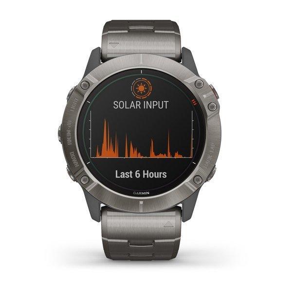Garmin Fenix 6X Pro Solar Titanyum Multispor GPS Akıllı Saat