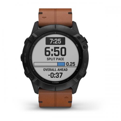 Garmin Fenix 6X Pro Sapphire Multispor GPS Akıllı Saat Deri Kayış