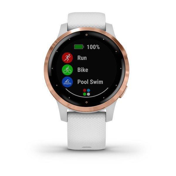 Garmin Vivoactive 4S Rose Gold Beyaz Akıllı Saat
