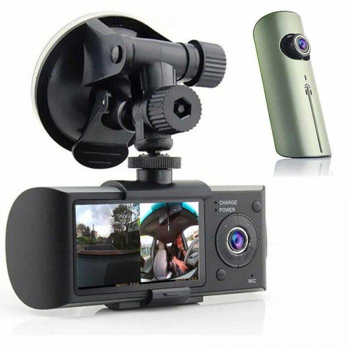 GO-3000 2.7'' Çift Yönlü Araç içi Kamera Taşınabilir DVR