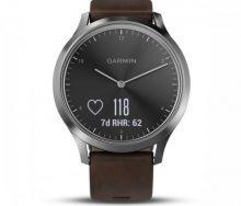 Garmin Vivomove HR Silver Premium Akıllı Saat - Deri Kayış