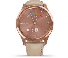 Garmin Vivomove Luxe 18K Rose Gold Akıllı Saat-Bej italyan Deri Kayış
